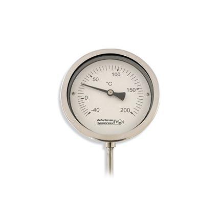 Termómetro Bimetalico Vástago 15cm