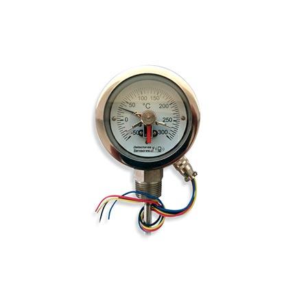 Termómetro Bimetalico Contacto Eléctrico
