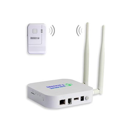 Controlador Temperatura Humedad WIFI con Comunicación Inalámbrica 500 mts o mas desde Sensores