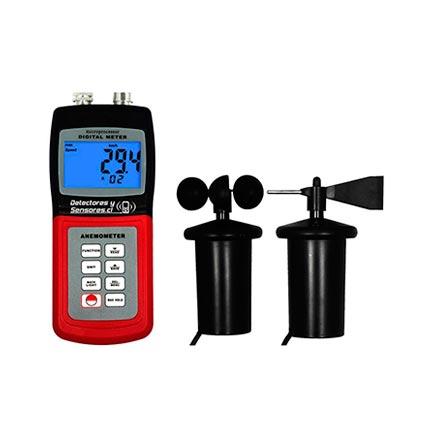 Medidor Velocidad Viento con Dirección y Temperatura
