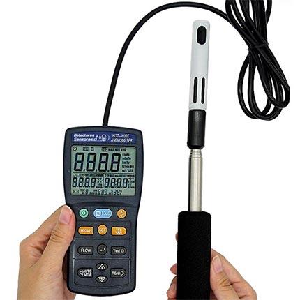 Anemómetro Hot Wire Varilla Telescópica