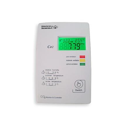 Detector Dióxido con Temperatura, Humedad