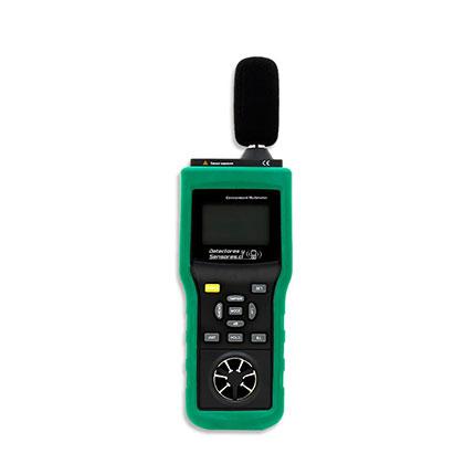 Tester Ambiental 5 en 1 Termómetro, Anemómetro, Luxómetro, Sonómetro, Higrómetro