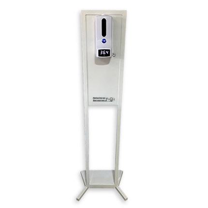 Tótem Dispensador Alcohol Gel y Termómetro Automático Sin contacto