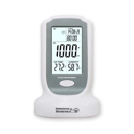 Detector CO2, Temperatura y Humedad de Sobremesa