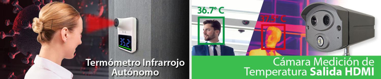 Termómetro para Personas - Cámara Temperatura Corporal Salida HDMI